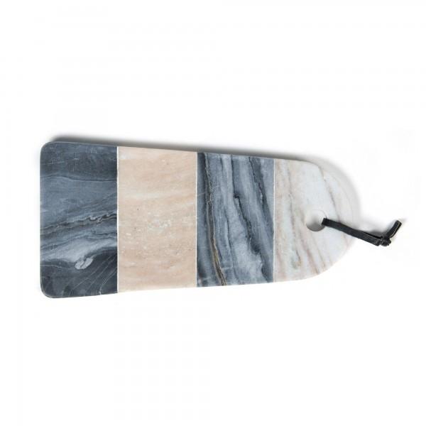 """Schneidebrett """"Nita"""", aus Marmor, grau, L 15 cm, B 30 cm"""