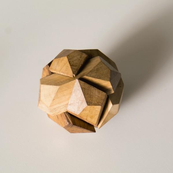 "Puzzle ""Diamant"" aus Holz, braun, Ø 7 cm"
