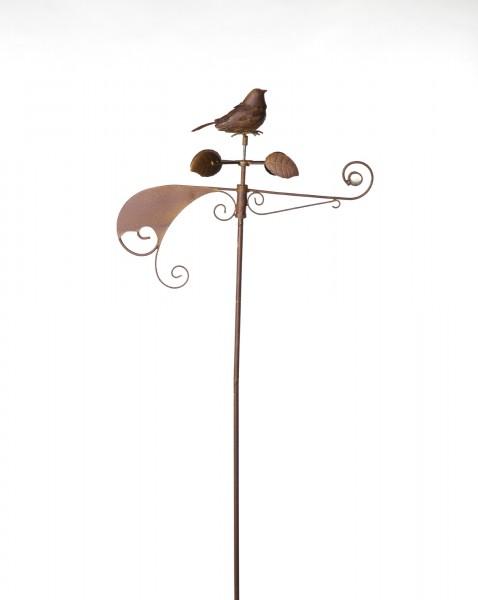 "Windspiel ""Dompfaff"", rostbraun, B 48 cm, H 155 cm"