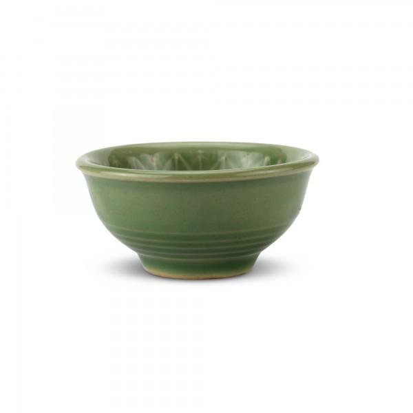 Schale 'Sonnenblume', grün, T 7 cm, B 7 cm, H 3,5 cm