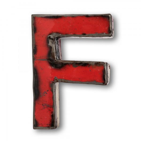 Metallbuchstabe 'F', multicolor, T 14 cm, B 20 cm, H 4 cm