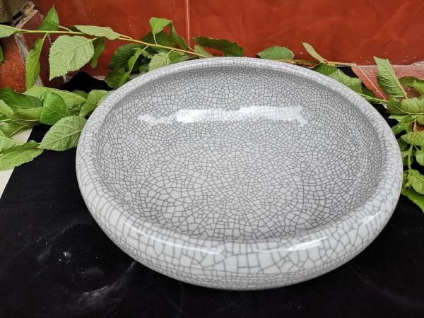 Keramikschale 'Craquelé', grau, Ø 29 cm, H 9,5 cm