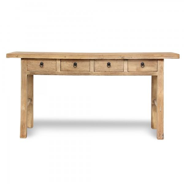 Tisch, 4 Schubladen, natur, T 45 cm, B 165 - 180 cm, H 87 cm