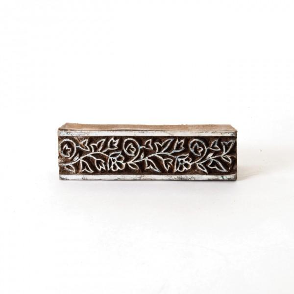 Holzstempel 'Bordüre G', handgeschnitzt
