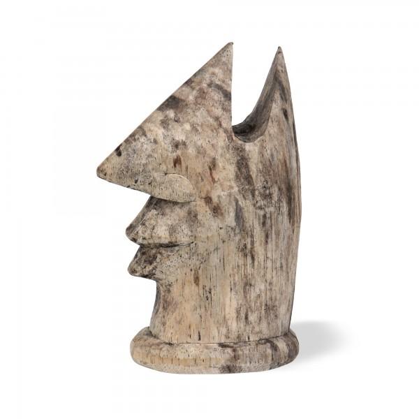 Brillenhalter 'Holzgesicht', natur, T 10 cm, B 7 cm, H 15 cm