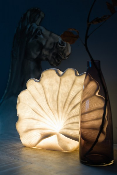Leuchte 'Meduse', off-white, T 14 cm, B 32 cm, H 27 cm