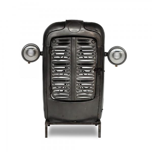 Traktor-Bar mit Regaleinsatz, vintage unlackiert, T 38 cm, B 85 cm, H 98 cm