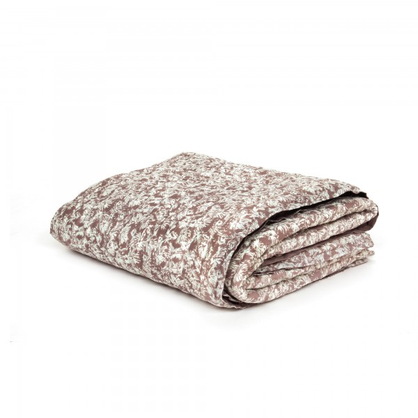 Quilt 'Dibouche', braun, weiß, T 220 cm, B 270 cm