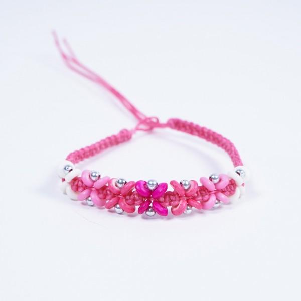 """Armband """"Lenny"""", handgefertigt, pink"""