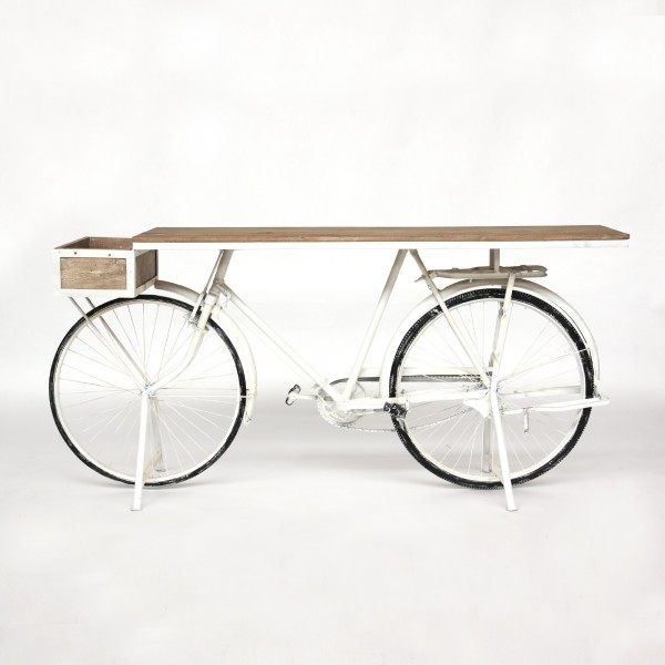 Tisch 'Vélo', weiß, T 48 cm, B 184 cm, H 90 cm