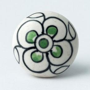 Keramik Möbelknopf, handglasiert, Ø 4 cm