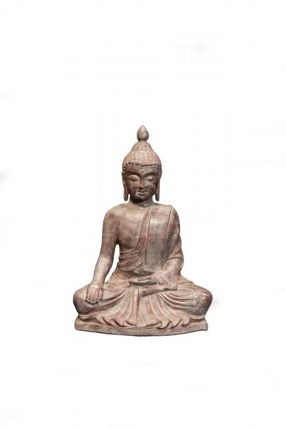sitzender Buddha, natur, T 32 cm, B 65 cm, H 77 cm