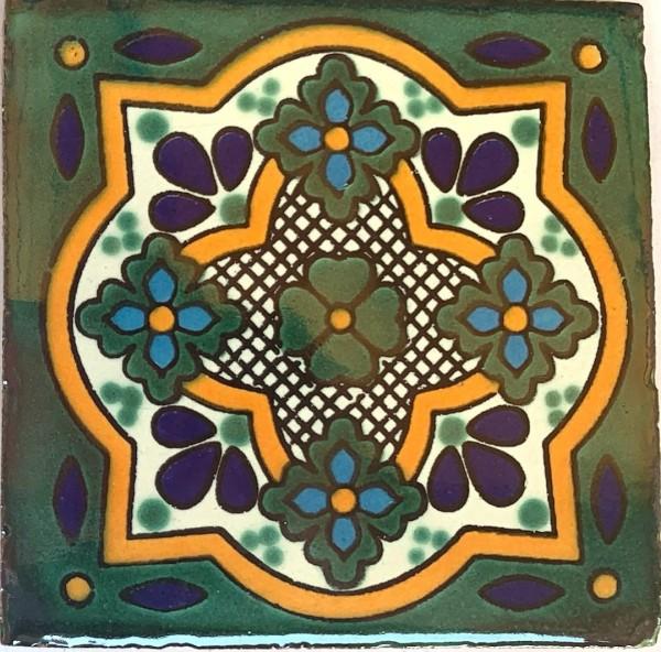 Kachel 'Nomeolvides', multicolor, T 10 cm, B 10 cm, H 0,5 cm