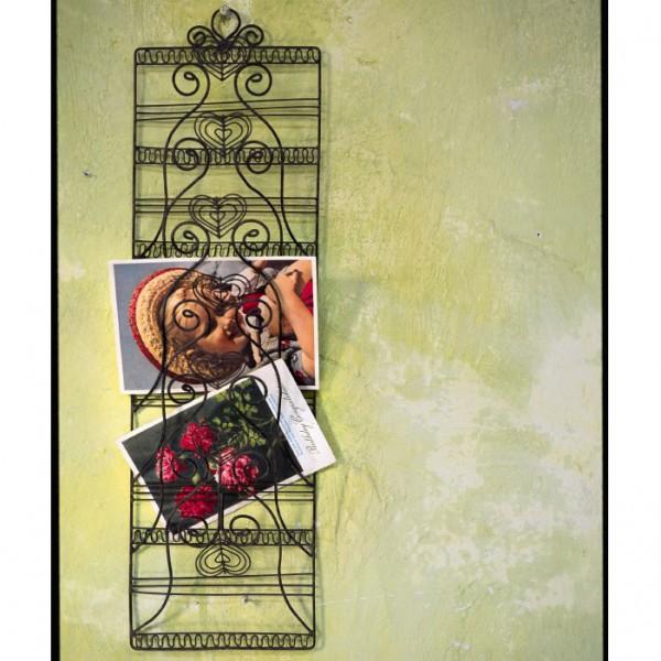 Notizwandhalter, antik-braun, B 14 cm, H 50 cm