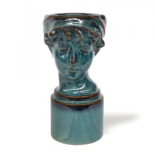 Keramikvase 'Joli Visage', H 24,5 cm, B 11,5 cm, T 15,8 cm