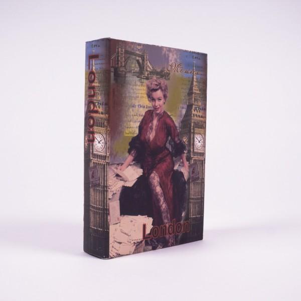 "Buchhülle ""Marilyn London"", L 5 cm, B 17 cm, H 26 cm"
