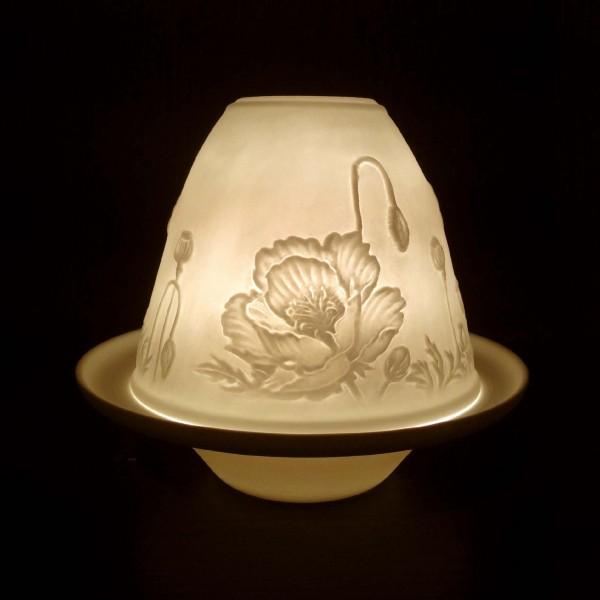 """Windlicht """"Locarno"""" aus Porzellan, Ø 10 cm, H 9 cm"""