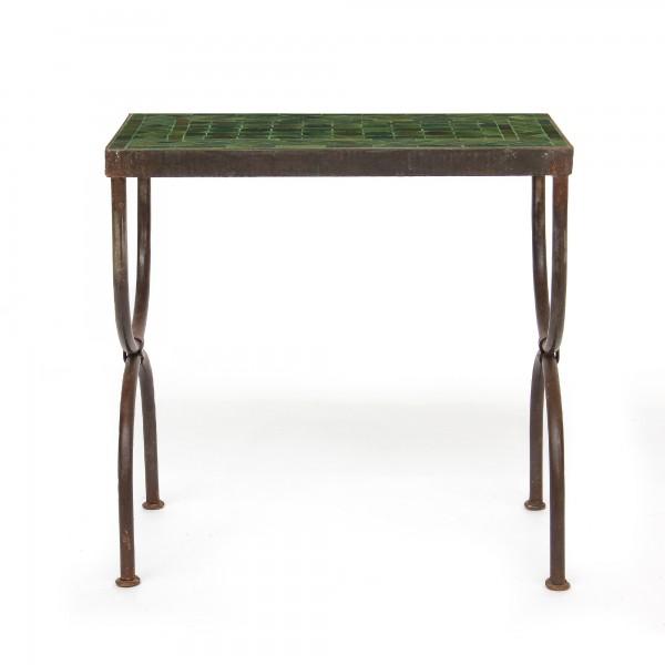 rechteckiger Tisch / Beistellstisch L, oliv, T 50 cm, B 30 cm, H 50 cm