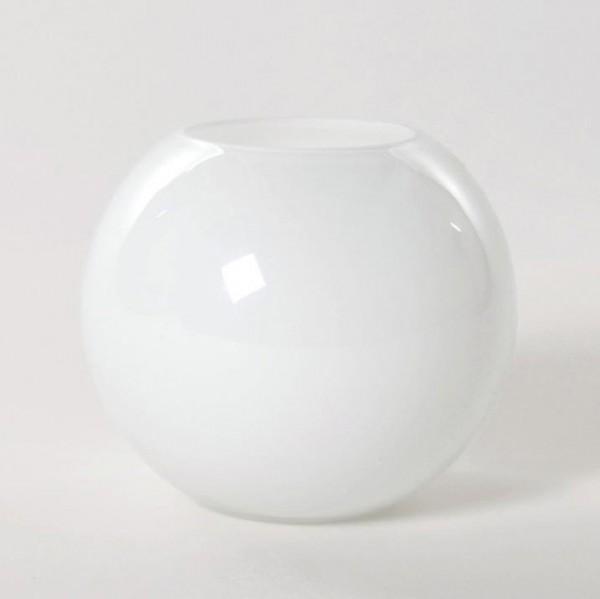 Kugelvase, weiß, H 20 cm, Ø 24 cm