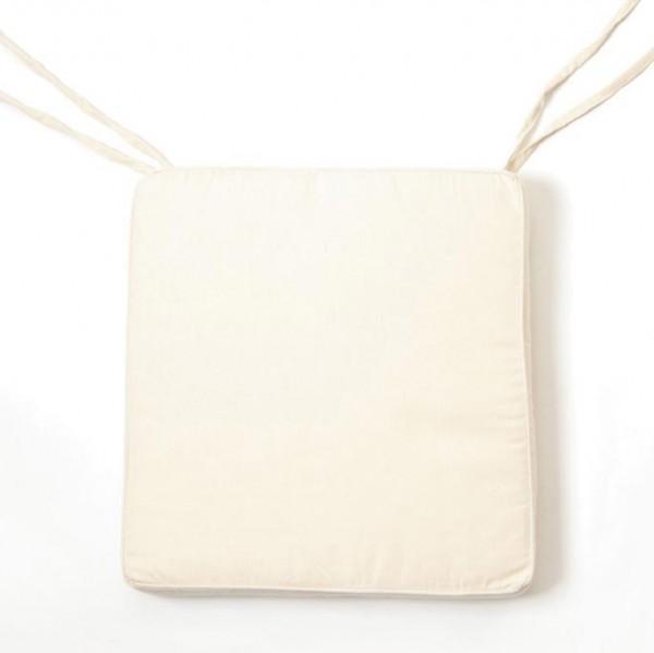 Sitzkissen für Klappstuhl, beige, L 38 cm, B 38 cm, H 5 cm