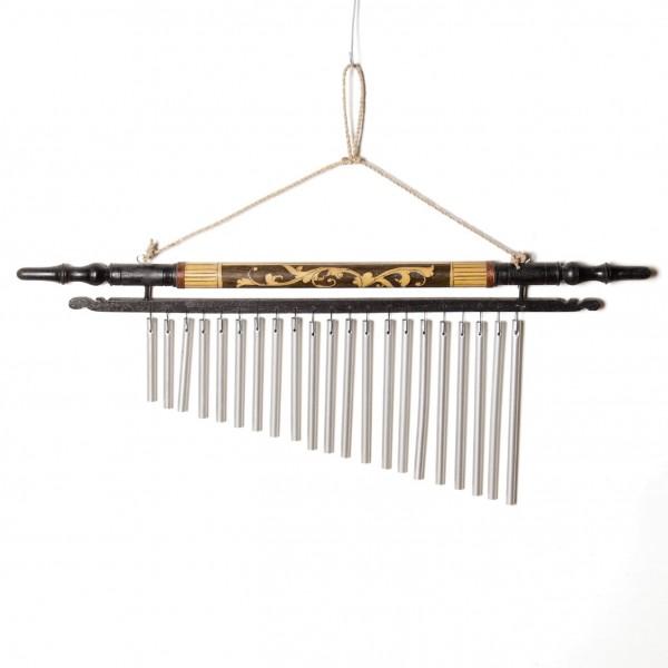 """Windspiel """"Ranke"""", aus Bambus und Aluminium, braun"""