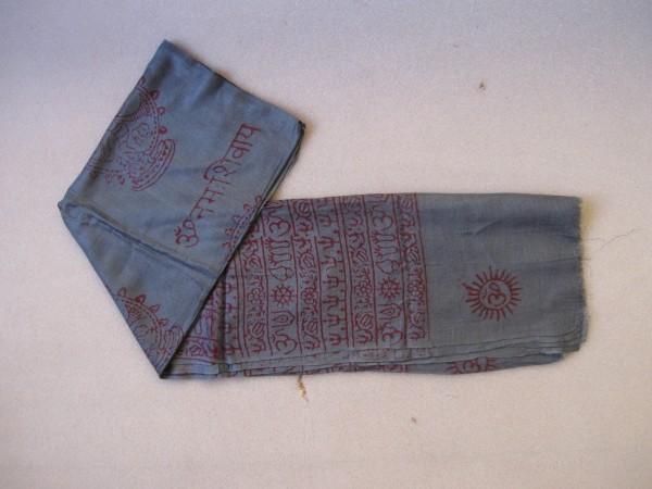 Baumwollschal groß, blau, T 190 cm, B 85 cm