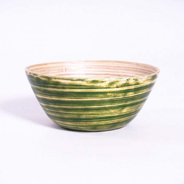 Bambusschale, grün, Ø 20 cm, H 9 cm