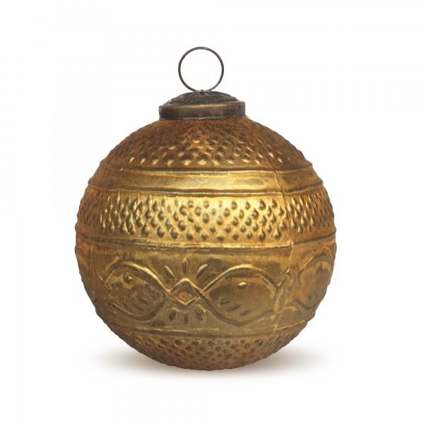 Anhänger Kugel, gold, Ø 10 cm, H 10 cm