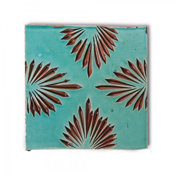 Fliese 'quatrelle turquoise', türkis, L 10 cm, B 10 cm, H 1 cm