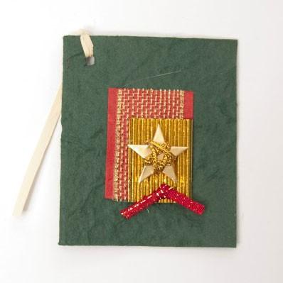 Geschenkkarte, grün, B 6 cm, H 7,5 cm