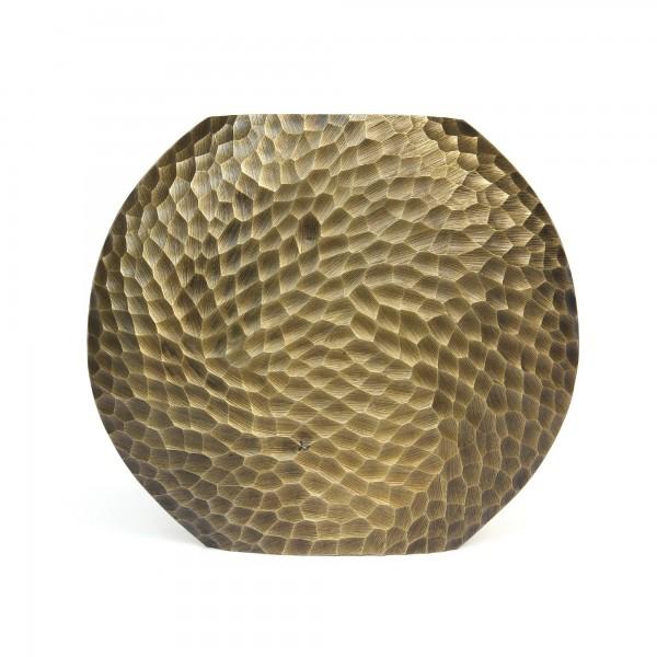 Vase 'Cialda', messing, T 9 cm, B 34 cm, H 30 cm