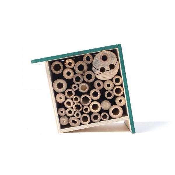 Insekten-Apartment aus Fichtenholz und Bambus, B 17 cm, H 15 cm