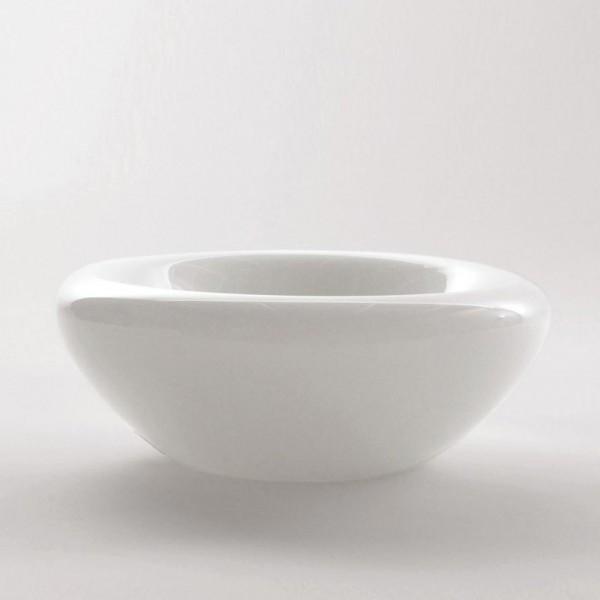Schale, weiß, H 11 cm, Ø 25 cm