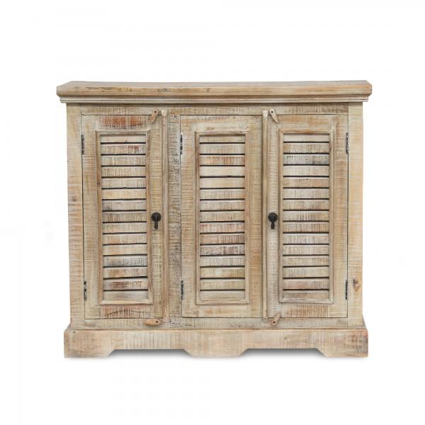 Sideboard 'Shutter', weiß gekälkt, T 28 cm, B 109 cm, H 95 cm