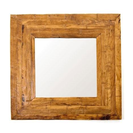 Spiegel in Leimholzoptik, braun, L 90 cm, B 90 cm