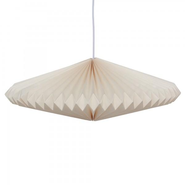 Papierlampe, weiß, Ø 60 cm, H 19 cm