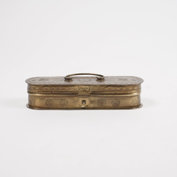 ovale Truhe, L 23 cm, B 7 cm, H 5 cm