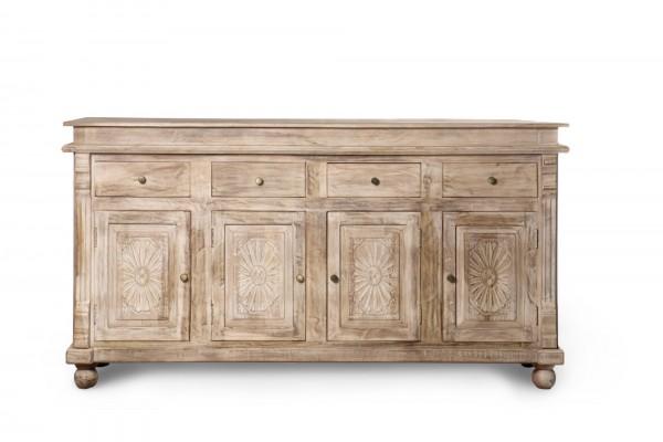 """Sideboard """"Good Earth"""", mit 4 Türen und 4 Schubladen, braun, L 46 cm, B 183 cm, H 98 cm"""