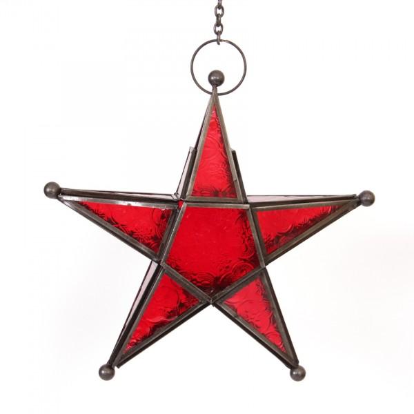 "Laterne ""Süleyman"", rot, Ø 23 cm"
