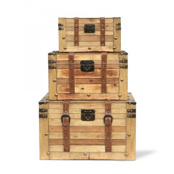 Koffertruhe 'Edie' S, natur, T 30 cm, B 17 cm, H 17 cm