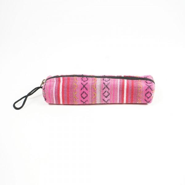 Stifteetui, echte Handarbeit aus Nepal, pink, B 22 cm, H 5 cm