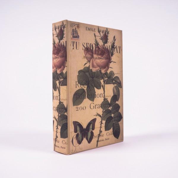 "Buchhülle ""Tea Rose"", L 5 cm, B 17 cm, H 26 cm"