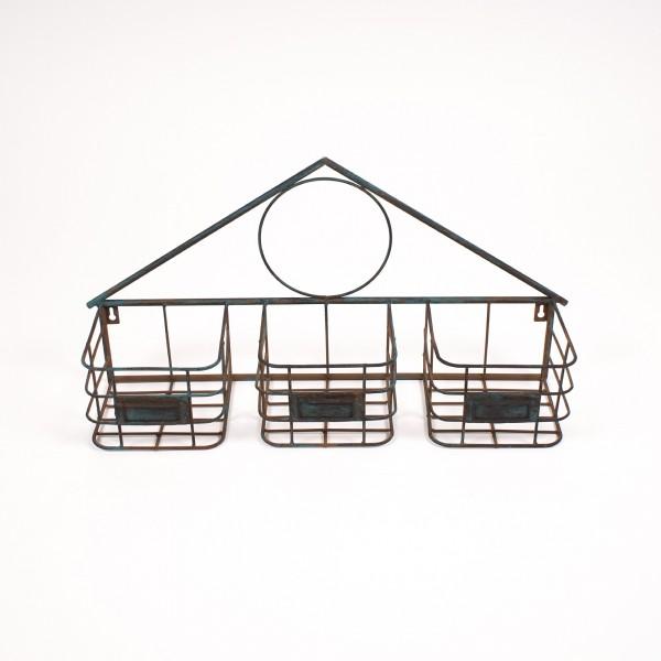 "Wandkörbe ""Triangle"", aus Metall, L 15 cm, B 58 cm, H 30 cm"