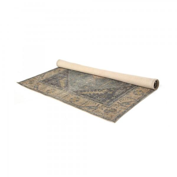 Teppich 'Warora', schwarz, ocker, T 140 cm, B 200 cm