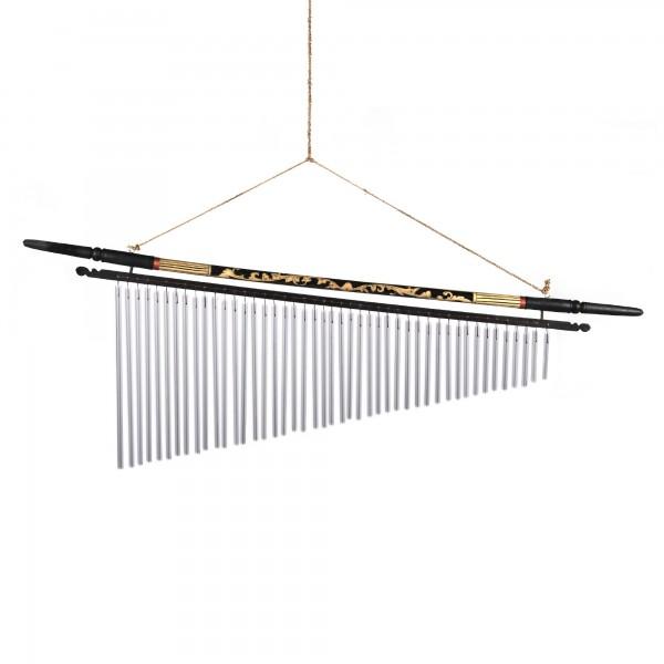 Windspiel 'Ranke' aus Bambus, Klangkörper aus Aluminium, L 100 cm