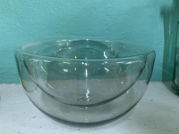 Glasschale doppelwandig, transparent, Ø 20 cm, H 12 cm