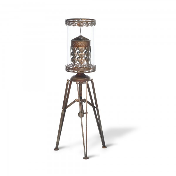 Tee-Licht-Karussell 'Burnley', kupfer, Ø 18,5 cm, H 87,5 cm