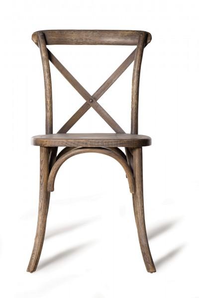Stuhl 'Valence', geschwärzt, T 41 cm, B 45 cm, H 88 cm