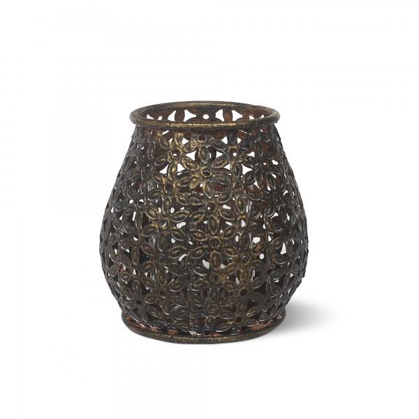 Windlicht 'Ennuin', metall, Ø 11,5 cm, H 12 cm