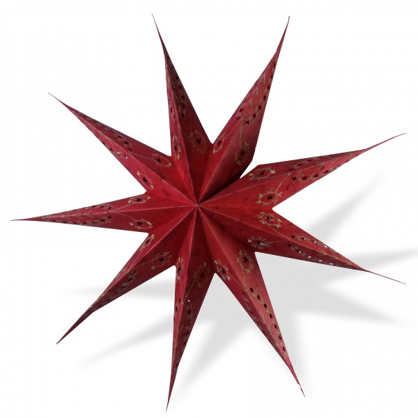 Papierstern, rot, Ø 60 cm